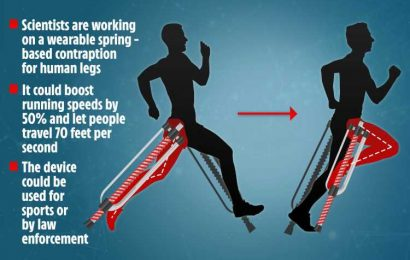 Sci-fi 'catapult exoskeleton' could let humans run 70 feet every SECOND using pogo-stick attachments