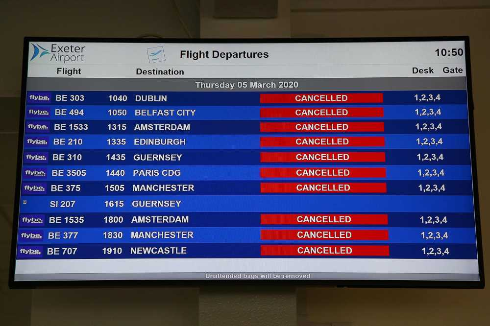 Flybe airline collapses in wake of coronavirus, stranding passengers