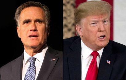 Trump Says 'Gee, Too Bad' That Longtime Foe Mitt Romney Is Isolating to Avoid Coronavirus Spread