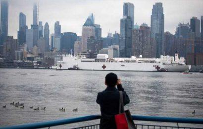 N.Y. Virus Deaths Hit 1,200; Rise in Infections Is Slowing