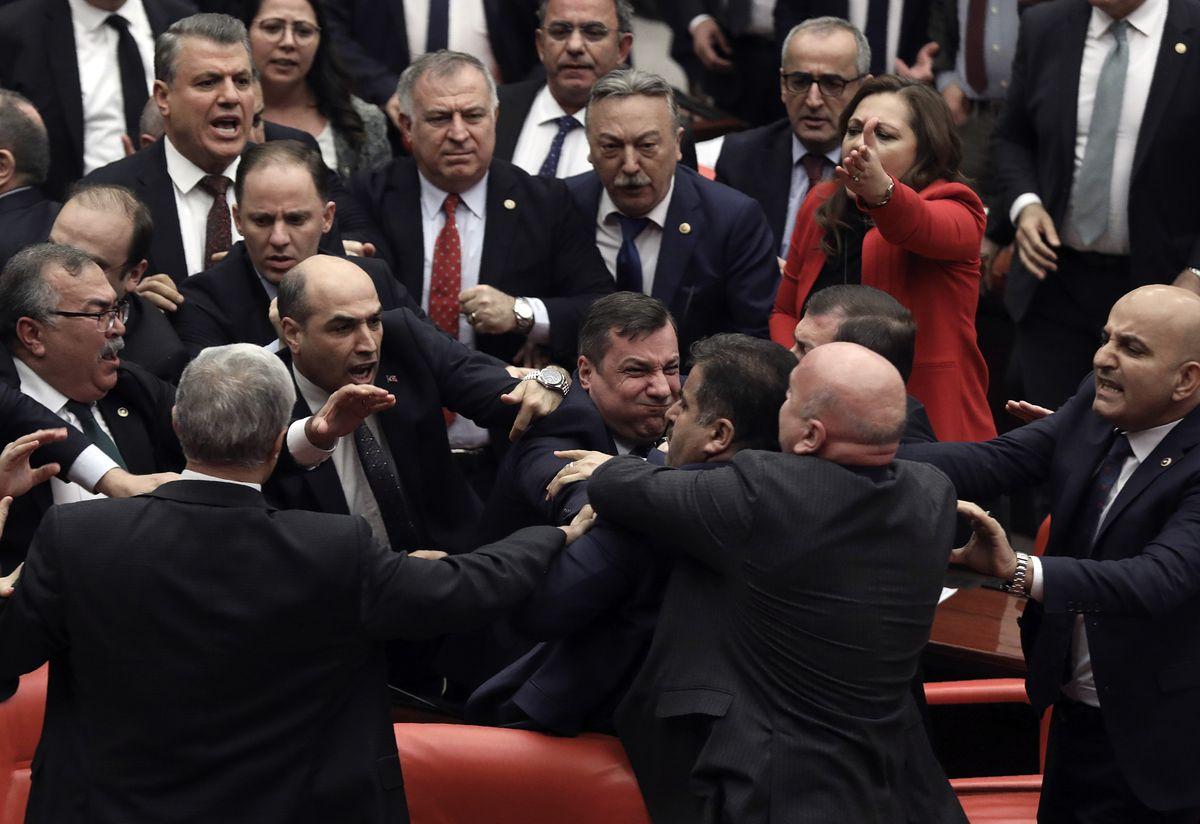 Turkey Probes Lawmaker After Mass Brawl Exposes Rift Over Syria