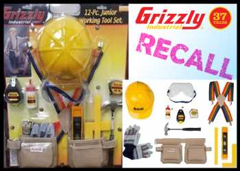 Grizzly Industrial Recalls Children's Tool Kits For Lead Concerns