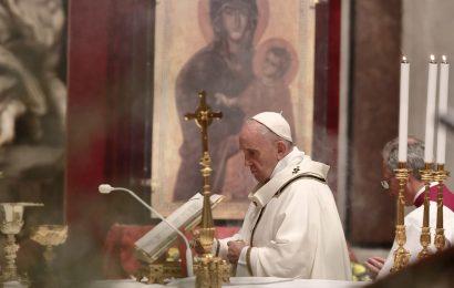Pope Francis Celebrates Joy of EasterAlone