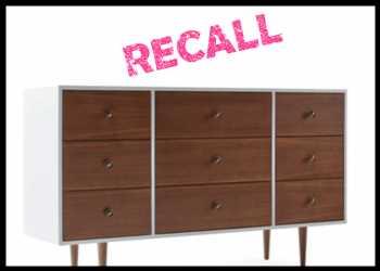 Joybird Recalls Blythe Dressers For Tip-Over, Entrapment Risks