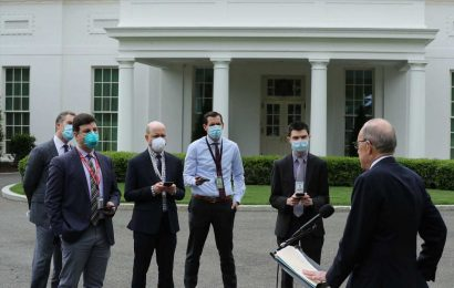 While Trump Urges States To Reopen, White House Adopts New COVID-19 Precautions