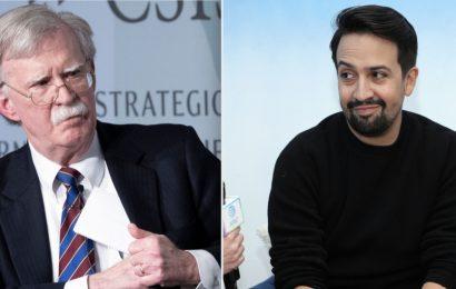 "Lin-Manuel Miranda Pens Special 'Hamilton' Lyric For John Bolton's ""Cash-In"" Book 'The Room Where It Happened'"