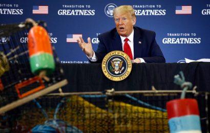 Trump Threatens New EU, China Tariffs Over Lobster in Maine Trip
