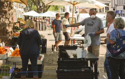 One way please! Norwich Market reopens for business