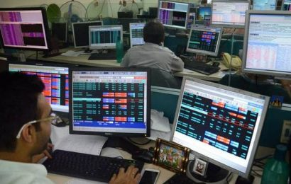 Sensex jumps over 200 points; Nifty tops 10,100 level