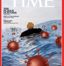 Time Dumps Donald Trump Into A Sea Of Surging Coronavirus For New Magazine Cover
