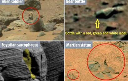 Bonkers conspiracy theorists spot mysterious objects on Mars – from 'alien statues' to a bottle of BEER