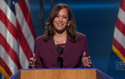 Kamala Harris Accepts Historic VP Nomination as She Envisions a Country 'Where All Are Welcome'