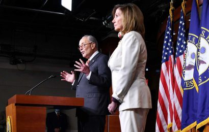 Watch live: Pelosi and Schumer discuss latest developments in coronavirus relief talks