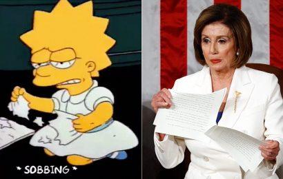 Pompeo trolls Nancy Pelosi's DNC speech with Lisa Simpson meme
