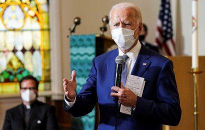 Biden meets with Jacob Blake's family during a visit to Kenosha