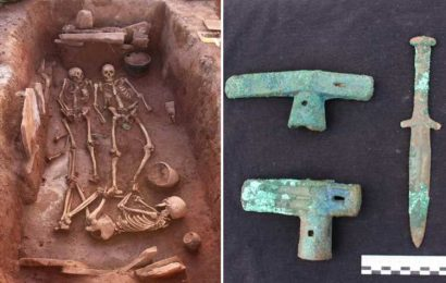 Ancient remains of 'warrior woman' unearthed in Siberia alongside weapons and three other skeletons