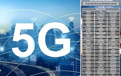 O2 rolls out 5G to 100 towns and cities –is yours on the list?