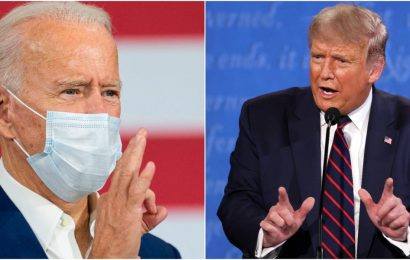 Biden says he and Trump 'shouldn't have a debate' if the president still has COVID-19
