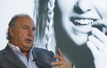 The Topshop retail empire of UK billionaire Sir Philip Green teeters on edge