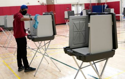 An election worker in Connecticut has tested positive for COVID-19, prompting a dozen colleagues to go into quarantine