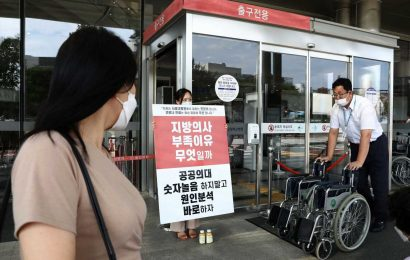 South Korea scrambles to build hospital beds in shipping containers as Covid wave spurs shortage