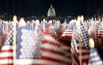 National Mall Turned Into 'Field of Flags' Ahead of Joe Biden's Inauguration