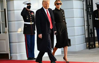 Scenes from President Donald Trump's White House Departure Before Biden's Inauguration