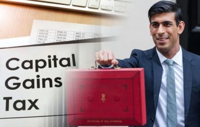 Rishi Sunak urged not to 'hike' CGT in next month's budget – new proposals recommended
