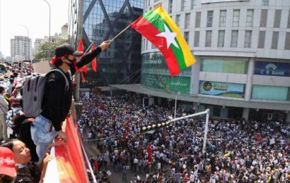 Tens of thousands protest Myanmar coup after night of fear, security patrols