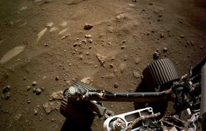 Nasa releases first recording of rover DRIVING on Mars – but mystery noise leaves them baffled
