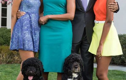 Michelle Obama Says She and Barack 'Can't Get a Word in' with Sasha and Malia: 'We Like It Like That'