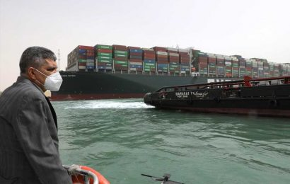 Suez Canal ship's owner apologizes as blockage enters third day