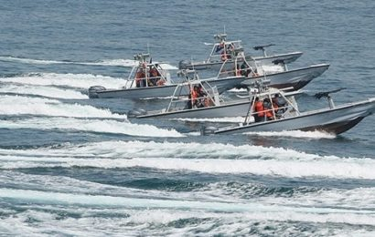 Iranian ships swarmed and harassed US Coast Guard vessels for hours in the Persian Gulf