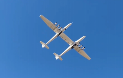 World's biggest airplane with 380-foot wingspan and TWICE as wide as Boeing 747 takes flight
