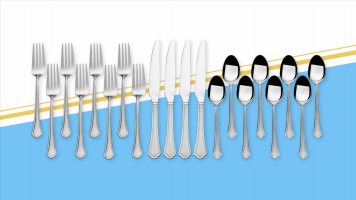 You can get a 51-piece silverware set for less than $40 right now