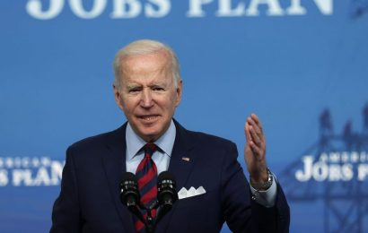 Biden warns China is 'racing ahead' of the US in a fiery speech bashing Republicans who oppose his infrastructure plan