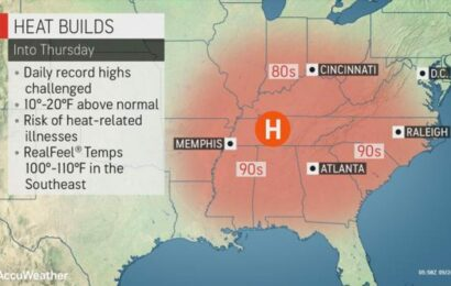 Get ready to swelter: Record temperatures possible as heat wave scorches Southeast