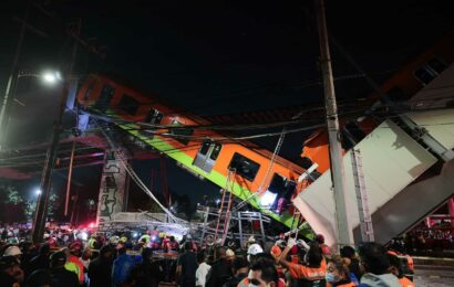 Mexico City metro overpass collapses onto road killing at least 15