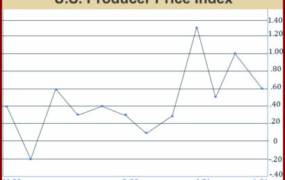 U.S. Producer Prices Rise 0.6% In April, More Than Expected