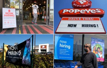 US job openings soar to record 8.1M as companies struggle to hire workers