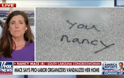 Rep. Nancy Mace tells anarchist vandals 'think again' if they think threats will 'intimidate' her