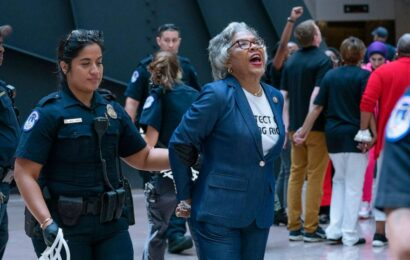 9 protesters arrested on Capitol Hill, including Rep. Joyce Beatty