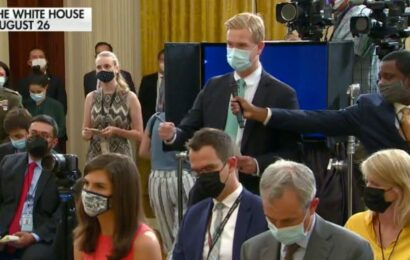 Biden refuses to take Afghanistan question, walks away after offering to take questions at FEMA
