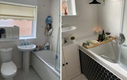 Mum transforms tired bathroom into Scandinavian dream for just £130 using Amazon bargains